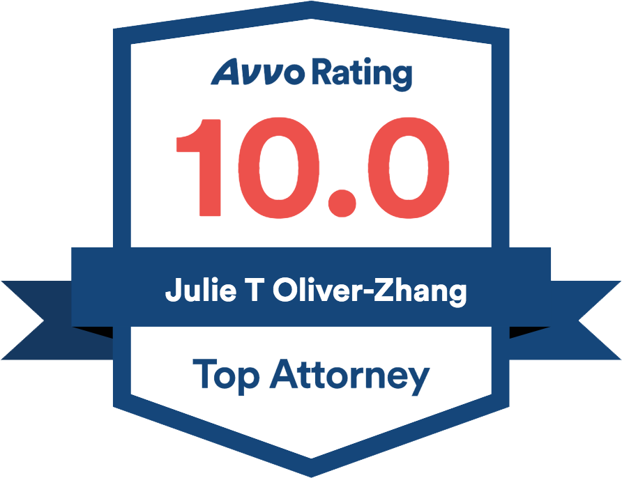 AVVO Rating - Julie T Oliver-Zhang - 10.0 - Top Attorney